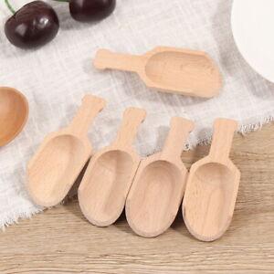 5Pcs 8cm Wooden Scoops Bath Salt Spoon Candy Flour Spoon Scoops Kitchen Uten_hg