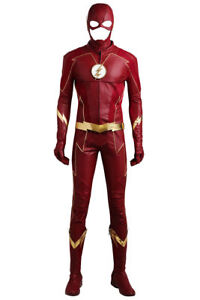 The Flash Season 4 Barry Allen Outfits Uniform Props Halloween Cosplay Costume