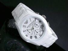 Emporio Armani Herren Uhr Ar1403 Keramic Edel Weiß