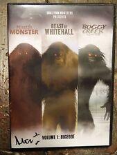 Signed Minerva Monster Beast Of Whitehall & Boggy Creek 3 DVD Set Bigfoot Movies