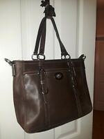 Coach Brown Leather Tote Bag Purse