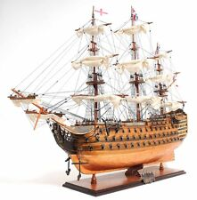 "HMS Victory Admiral Nelson Tall Ship Copper Bottom 38"" Wood Model Boat Assembly"