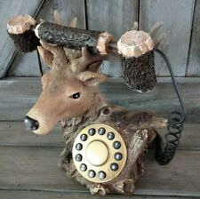 Vintage Deer Head Telephone landline Push Button Dial great condition works