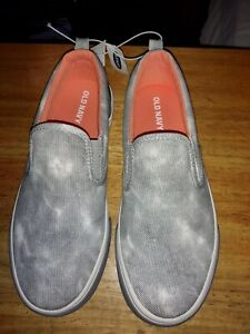 OLD NAVY BOYS GRAY TIE DYE CASUAL SLIP ON SHOES SIZE 1