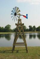 """40"""" DIY Head Kit For 11' Decorative Windmill Galv Blades Made In Texas"""