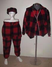 Vintage 4 Pc Woolrich 100% Plaid Hunting Suit Pants Jacket Shirt Vest Hat
