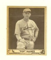 1940 Play Ball #227 Jesse Pop Haines St. Louis Cardinals EX no creases