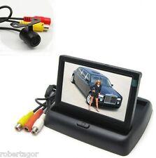 KIT MONITOR LCD A SCOMPARSA TFT 4.3 VIDEO AUTO CAMPER CON TELECAMERA RETROMARCIA