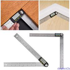 """7"""" Electronic Protractor Digital Goniometer Angle Finder Miter Gauge Ruler 1PCS"""