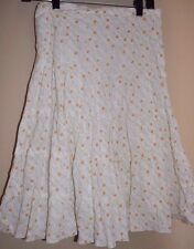MAX STUDIO Tiered Skirt Floral Cream Yellow Green Size XS
