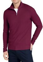 Alfani Mens Sweater Ripe Burgundy Purple Sz 3XL Ribbed 1/2 Zip Pullover $65 007
