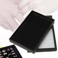 Jewelry Rings Display Tray Velvet Pad 100 Slot Show Case Box Jewelry Storage 0V