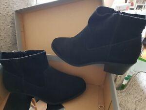 Vionic Mystic Mica fur suede zip up boot comfort black RRP £200 orthotic biker