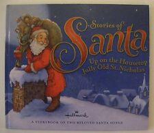 HALLMARK STORIES OF SANTA Up on the Housetop HOLIDAYS Hardcover Illus VGUC  rr-1