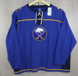 Buffalo Sabres NHL Fanatics Men's Tie Up Jersey Sweatshirt Big Tall 5XL Pullover