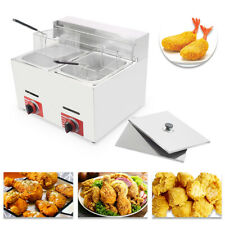 Commercial Countertop Gas Fryer 2 Baskets GF-72 Propane(LPG) with Metal Tube