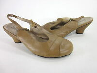 PORTLANDIA WOMEN'S BOLOGNA T-STRAP PUMP TAN LEATHER EUR SIZE 45 US 13 MEDIUM