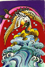 Japanese Crane Japanese Kite Painting, traditional Silk Screen on mulberry paper