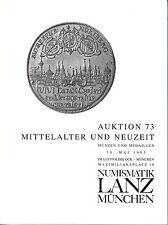 LANZ vente aux enchères 73 catalogue 1995 époque moderne moyen âge Carolingiens Habsburg RDA ~