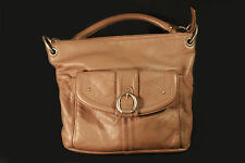 Stone Mountain Leather Handbag Brown Tan Multiple Compartments
