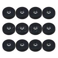 12 x Black Plastic Anti-vibration Speaker Spike Pads Stand Feet Base