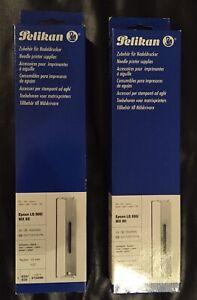 2 x Pelikan 515296 Farbband Epson LQ 800/FX800/MX 80 NEU OVP
