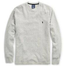New : Polo Ralph Lauren Mens Waffle Knit Thermal L/S shirt : GRAY -  S - XXL
