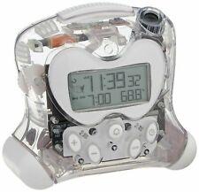 Oregon Scientific Atomic Projection Clock Indoor Temperature - Transparent Clear