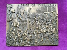 Beautiful Antique and rare bronze medal Allusive to the crisis of 1383-1385