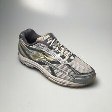 Brooks Mens Dyad Yellow Gray Running Shoes - Mens Size 9.5