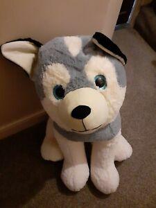 Giant Husky Dog Teddy Plush Bean Filled