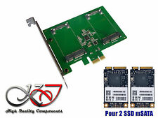 Tarjeta Controladora PCIe mSATA dos puertos - para 2x SSD mSATA
