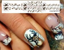 "30 Snow Camo with Buck Nail Decals from the "" Signature Collection """