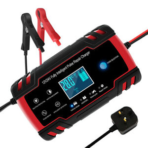 Smart Car Battery Charger with LCD Screen for Charging/Maintaining 8A AGM/GEL