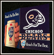 1988 CHICAGO BEARS OLD STYLE BEER FOOTBALL POCKET SCHEDULE FREE SHIPPING