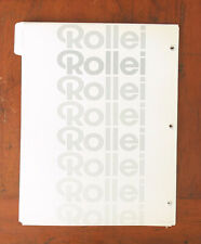 ROLLEI LOT OF DEALER NOTEBOOK PAGES/101542