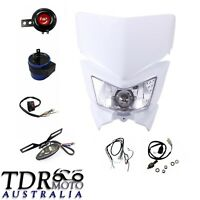 Rec Reg Head Tail Light kit Fit Yamaha YZ450 WR450 WR250 White TDR