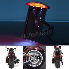 Motorcycle License Plate Bracket Side Mount Tail Brake Light For Harley Iron 883