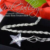 925 STERLING SILVER NECKLACE CRYSTAL CAL 20mm STAR CRYSTALS FROM SWAROVSKI®