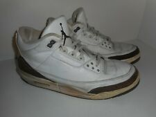Vintage 2001 Air Jordan Retro 3 Mocha Size 13 (010603)  (Restoration / Donor )