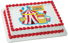 Lucks CARNIVAL Circus Big Top Edible Image Cake Decorating Supplies Topper Frost