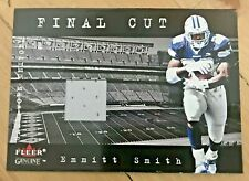 EMMITT SMITH 2001 Fleer Genuine Final Cut Game-Worn Uniform Cowboys HOF NM