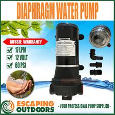 12 volt Water Pressure Pump 60PSI 17LPM Transfer Solar Cabin 4 or more outlets