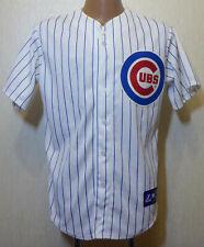 RARE MEN'S MAJOR BASEBALL CHICAGO CUBS HOME ORIGINAL MAJESTIC GENUINE MLB Sz M/L