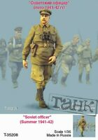 Tahk Tank 1:35 Soviet Officer Summer 1941-42 - Resin Figure Kit #T35208