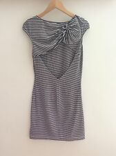 Stripe Jersey Summer Dress With Open Back And Bow Detail. Vintage Paul & Joe