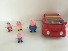 Peppa Pig's Red Car 4 Family Figures Sounds Talking Works