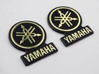 3D Gas Oil Tank Badge Fairing Emblem Decal Sticker for Yamaha Tuning Fork Silver