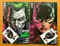 BATMAN: THREE JOKERS #2  Jason Fabok Main + Variant Set DC 2020 NM + 2 cards