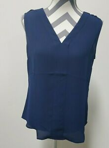 Banana Republic - Sleeveless Shirt Blouse - Navy Blue  - Womens Size S - Small